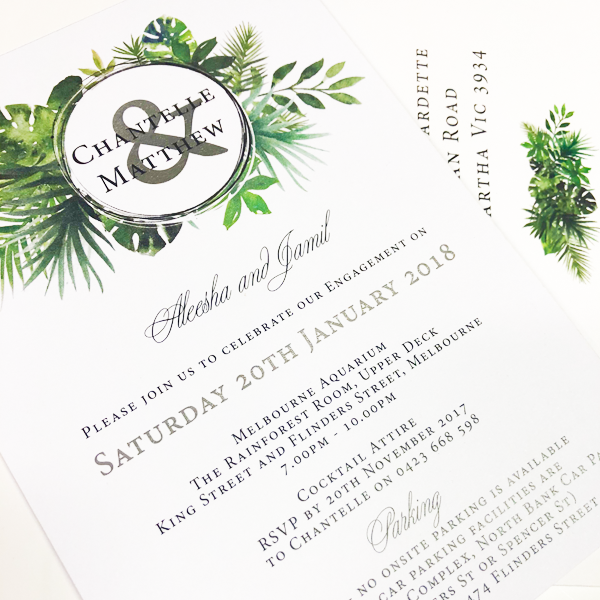 Natural Engagement Invitations Online Melbourne