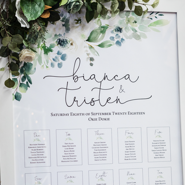 order wedding seating plans online